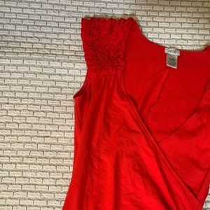Cachè Red Sleeveless Wrap Dress